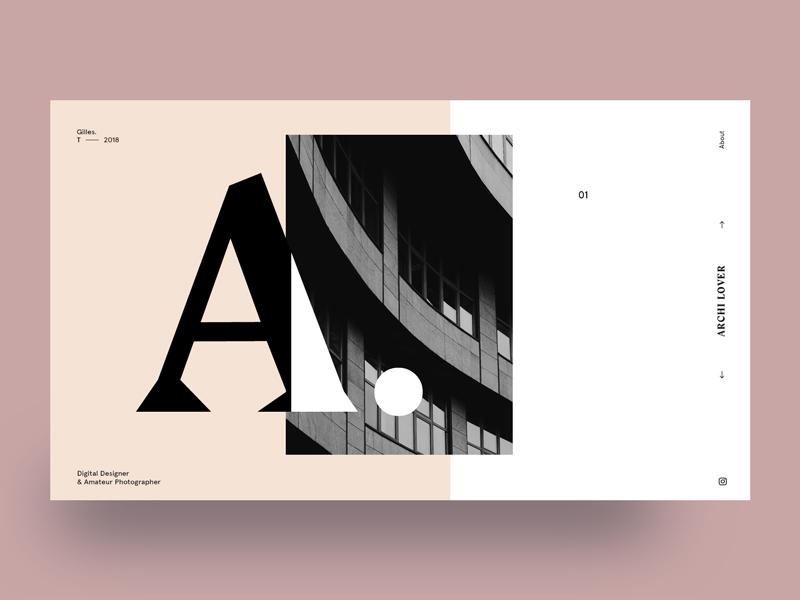 Still exploring layout web photography portfolio minimalism type design