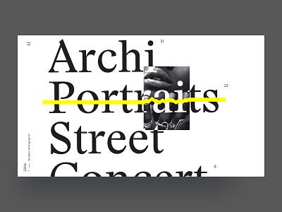 Design testing photo minimal type design art portolio
