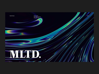 Experiment glitch illustration photoshop aftereffects typography web design motion animation liquid gradient iridescent