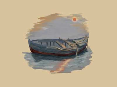 Boat boat digitalbrushes photoshop digitalpainting digitalart adobe illustration art