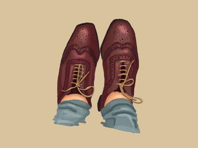 Shoes shoes vintage realistic photoshop digitalpainting digitalart adobe illustration art