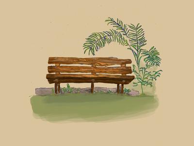 Bench design digitalbrushes realistic bench photoshop digitalpainting digitalart adobe illustration art