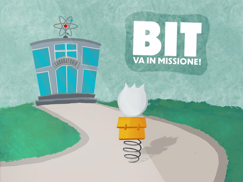 Bit va in missione! coronavirus mascotte story digitalbrushes photoshop digitalpainting digitalart illustration