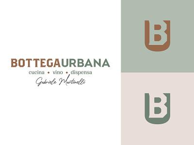 Bottega Urbana | logo graphic design bistrot logo restaurant brand corporate food brand design logo design monogram brand design vector brand identity branding logo adobe
