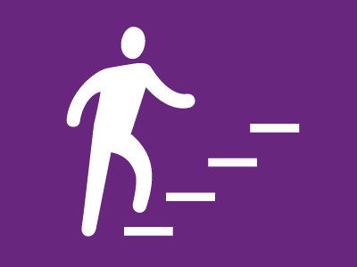 The Stairs stairs pictogram icon man walking