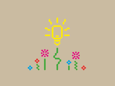 Let a Flower Bloom icon pictogram