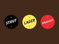 Chez Le Bas Beer Style Stickers