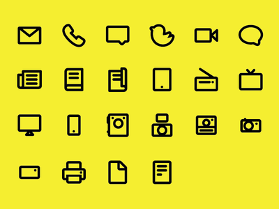 Media Icons (Extended)