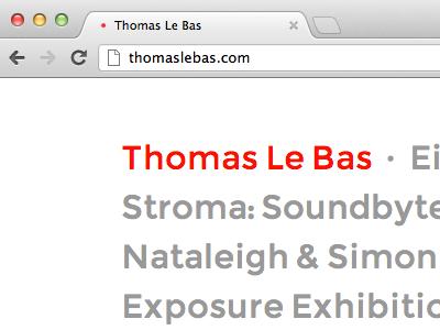 thomaslebas.com website portfolio