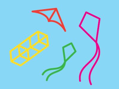 Drachen drachen kites icon illustration