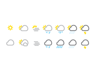 Weather Icon Update weather icons sun clouds rain thunder