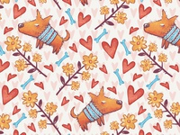 Time to Love. Seamless Pattern - 1