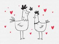 Mr. and Mrs Chicken