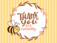 Thank You Tag and Mr. Bumblebee