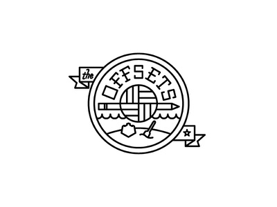 The Offsets offsets volleyball team designers logo sports