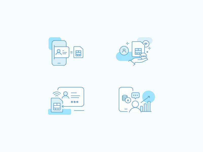Telecommunication Icon Set vector design ui iconset icons icon design icon