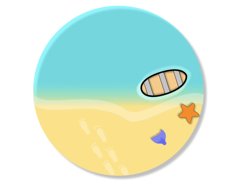 Summer Vacay Badge seashore dribbbleweeklywarmup design fun branding beach party figma