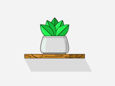 Flower Pot Design interior flower illustration leaves illustration branding design figma