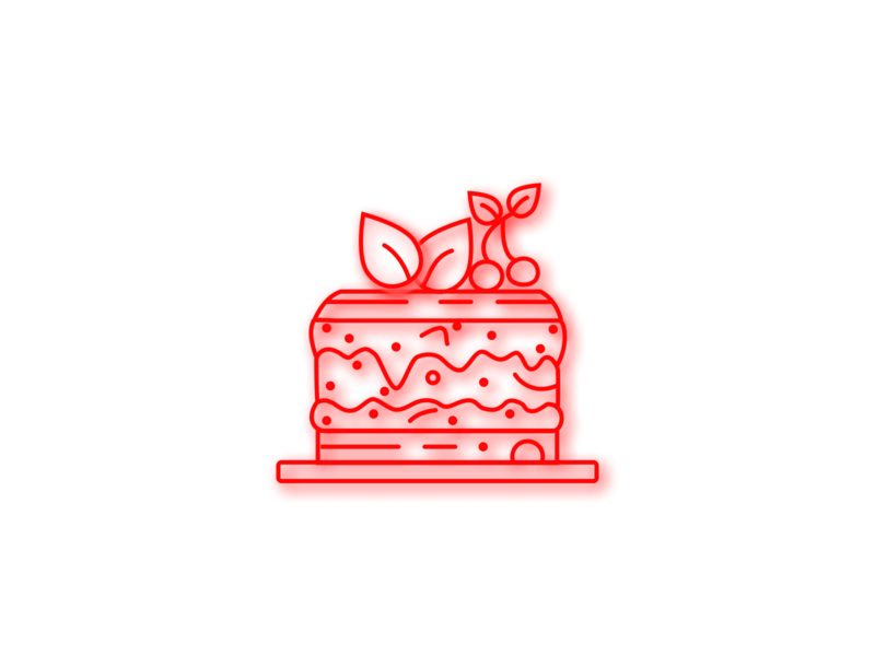 Strawberry Cake weekend vibe yummy stroke graphics vector figma strawberry cake red velvet cake toppins sketch cherry on the cake cherry cake