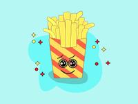 Fries vector illustration adobe illustrator tasty foodblogger fastfood yummy french fries foodie foodgasm foodporn food foodstagram fries