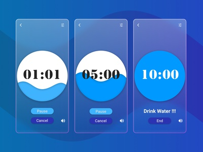 Count Down Timer countdowntimer timer timer app drink water daily ui challenge daily ui dailyui figma countdown timer countdown 014 ux ui