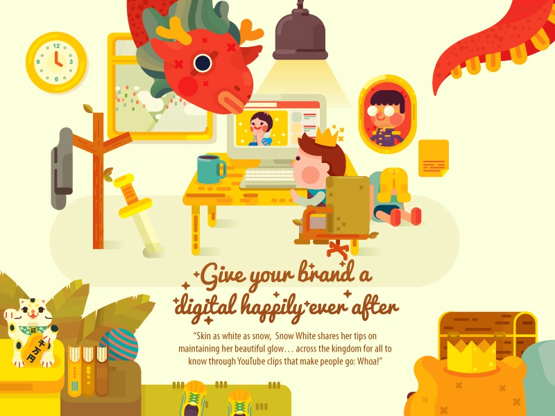 Happily Ever After #2 illustration vector character design