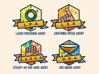 Achievement Badges illustration vector icon badges
