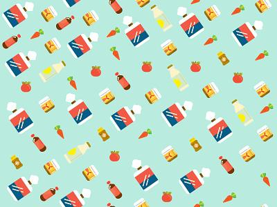 Grocery illustration vector pattern tile