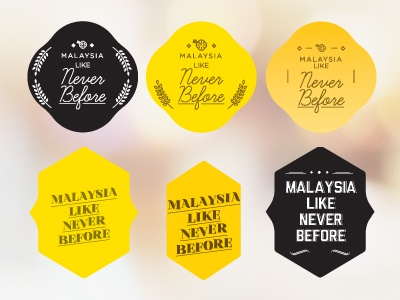 Like Never Before logo badges font typography type yellow masthead
