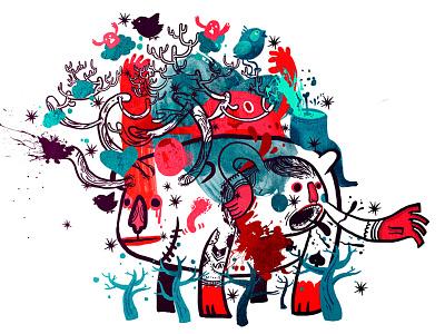 Monster Jungle monster character design creature illustration