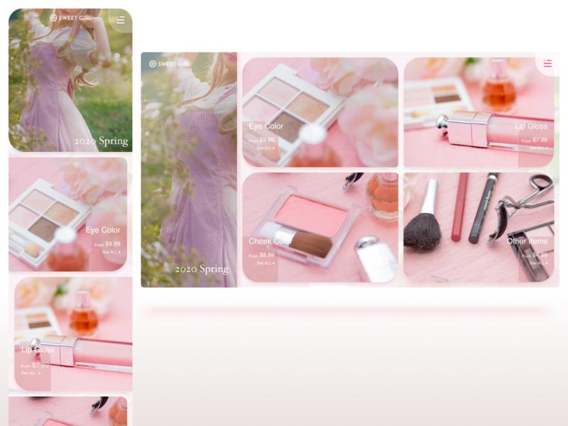 E-Commerce Shop girly ui web dailyui012 dailyui