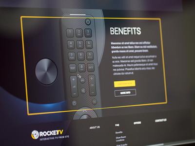 Banner for New Project vector illustration yellow banner box black iptv
