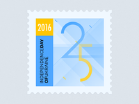 Independence day of Ukraine. Postage stamp.