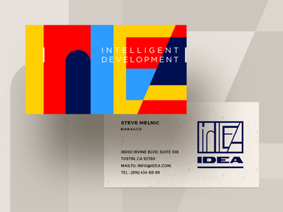 Idea Business Cards business card colors identity logotype logo