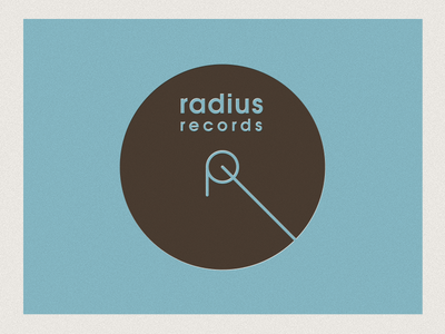 Radius Records Logotype Invert