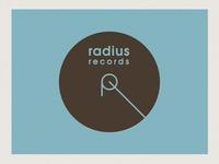 Radius Records Logotype Invert