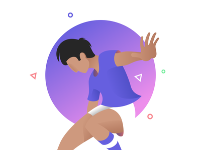 Illustration for corporative website character vector design soccer ui football icon illustration