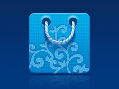 Blue bag bag icon ornament pattern dots blue launcher icon string strip