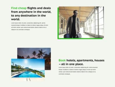 Airline Deals web design green contrasting web ux ui webdesign design