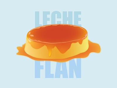 Leche Flan vector art food philippines filipino dessert flan leche flan vector illustration