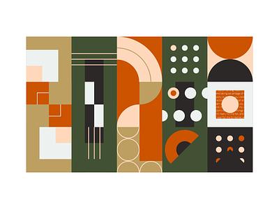 Art Deco 2020 adobe illustrator shapes colorful vector retro illustration gold forest green geometric 2020 design color theory art deco 2020