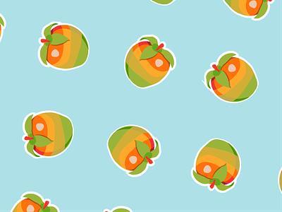 Wumpa World fun fruit illustration vector artist 90s childhood nostalgia adobe illustrator playstation colorful nitro vector art fruit gaming crash bandicoot funky wallpaper retro blue foodie