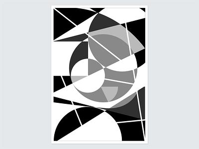 Geometric Haze retro adobe illustrator gray grayscale geometry black and white color theory shapes vector geometric illustration