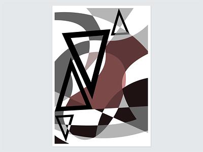 Melancholic Geometric color theory adobe illustrator vector illustration geometric shapes black and white surreal desaturated retro melancholy