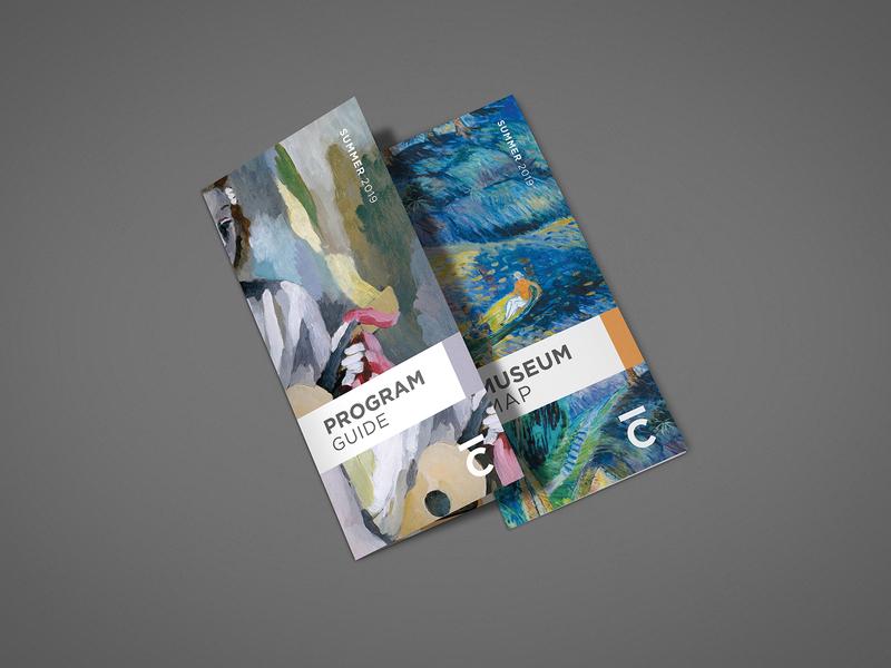Cummer Museum Program Guide & Map brochure map collateral museum layout design branding