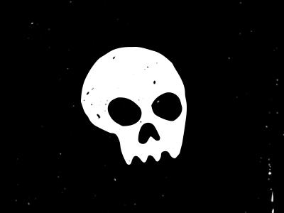 Skullz black and white vector design skull doodle drawing illustration