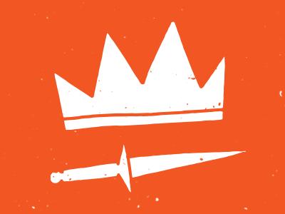 Crown & Dagger texture sketch vector doodle drawing illustration
