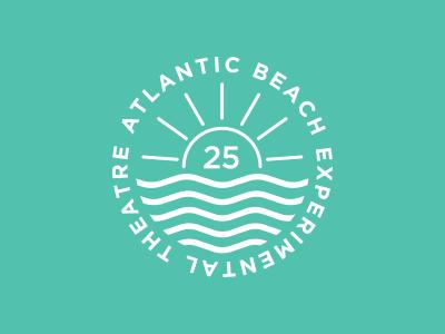 ABET 25 circle type design illustration stamp logo