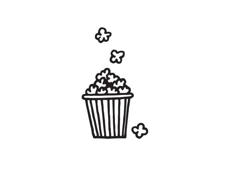 pop pop pop pop movies vector drawing icon popcorn design doodle illustration