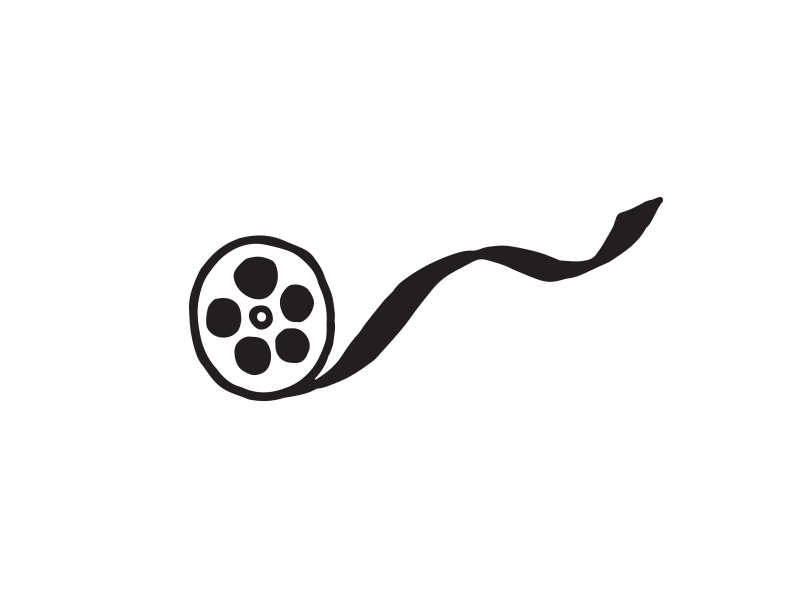 Rollin' film movies vector sharpie drawing icon doodle design illustration